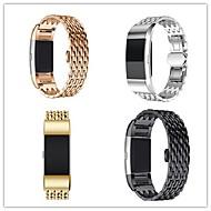 tanie -Watch Band na Fitbit Charge 2 Fitbit Zapięcie motylkowe Metal / Stal nierdzewna Opaska na nadgarstek