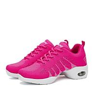 baratos Sapatilhas de Dança-Mulheres Tênis de Dança Tricô Têni Salto Baixo Personalizável Sapatos de Dança Preto / Fúcsia / Preto / Vermelho
