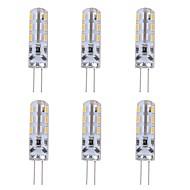 billige Bi-pin lamper med LED-6pcs 1W 90lm G4 LED-lamper med G-sokkel T 24 LED perler SMD 3014 Dekorativ Grønn Blå Rød 12V