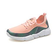 baratos Sapatos Femininos-Mulheres Sapatos Micofibra Sintética PU / Tule / Couro Ecológico Verão / Outono Conforto Tênis Corrida / Ciclismo / Caminhada Sem Salto