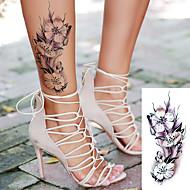 billiga Temporära tatueringar-5 pcs Tatueringsklistermärken tillfälliga tatueringar Blomserier / Romantisk serie Body art Kropp / skuldra / Ben