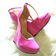 baratos Sapatos Femininos-Mulheres Sapatos Couro Ecológico Primavera Verão Inovador Saltos Salto Plataforma Ponta Redonda Fúcsia / Azul / Azul Claro