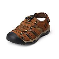 baratos Sapatos Masculinos-Homens Pele Napa / Couro Ecológico Outono Conforto Sandálias Aventura / Caminhada Estampa Colorida Castanho Claro / Castanho Escuro / Khaki