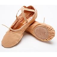 billige Ballettsko-Dame Ballettsko Lerret Flate Kubansk hæl Dansesko Rosa / Naken / Ytelse / Trening