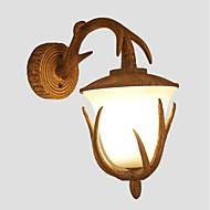 billige Vegglamper-Matt Vintage / Land Vegglamper Spisestue / Leserom / Kontor / Innendørs Harpiks Vegglampe 110-120V / 220-240V 40W