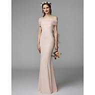 cheap -Mermaid / Trumpet Strapless Floor Length Chiffon Bridesmaid Dress with Sash / Ribbon / Pleats by LAN TING BRIDE®