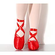 billige Ballettsko-Dame Ballettsko Silke Flate Flat hæl Dansesko Rød / Rosa / Ytelse / Trening