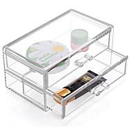 tanie Przechowywanie biżuterii-Plastikowy Prostokątne New Design Dom Organizacja, 1szt Szuflady / Przechowywanie makijażu / Organizery na biurko