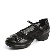 billige Moderne sko-Dame Moderne sko Netting / Lær Joggesko Lav hæl Kan spesialtilpasses Dansesko Hvit / Svart / Mørkerød / Ytelse