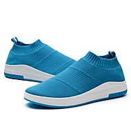 baratos Sapatos Masculinos-Homens Couro Ecológico Verão Conforto Mocassins e Slip-Ons Preto / Cinzento / Azul Claro