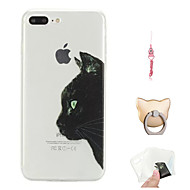 billiga Mobil cases & Skärmskydd-fodral Till Apple iPhone X / iPhone 8 Plus Mönster Skal Katt Mjukt TPU för iPhone X / iPhone 8 Plus / iPhone 8