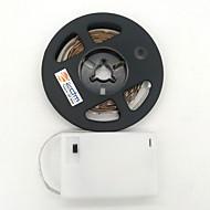 billiga Belysning-ZDM® 1m Ljusslingor 300 lysdioder 2835 SMD Varmvit / Kallvit Klippbar / Lämplig för fordon / Självhäftande AA Batterier Drivs 1st