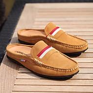 baratos Sapatos Masculinos-Homens Pele Primavera Conforto Tamancos e Mules Azul / Castanho Claro / Vinho