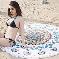 billiga Handdukar och badrockar-Överlägsen kvalitet Strand handduk, Geometrisk / Multifärgad Polyester / Bomull Blandning 1 pcs