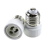 billige belysning Tilbehør-2pcs E27 til GU10 GU10 Omformer / Bulb Accessory Lysstikkontakt Aluminium / Keramikk