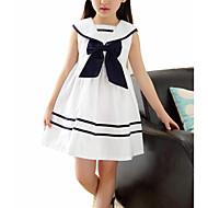 Bambino Da ragazza Dolce Monocolore Senza maniche Vestito Bianco