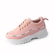baratos Sapatos Femininos-Mulheres Sapatos Tecido Primavera Verão Conforto Tênis Caminhada Plataforma Ponta Redonda Branco / Preto / Rosa claro