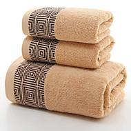 billiga Handdukar och badrockar-Överlägsen kvalitet Badhandduk, Geometrisk Polyester / Bomull Blandning / 100% bomull 1 pcs