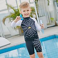 SABOLAY Dječaci Ronilačko odijelo kože Quick dry, Ultraviolet Resistant, UPF50+ Poliester / Spandex / Chinlon 3/4 rukava / Bez rukávů Kupaći kostimi Plaža Nosite Kupaći kostimi Plivanje / Vježbanje