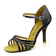 baratos Sapatilhas de Dança-Mulheres Sapatos de Dança Latina / Sapatos de Salsa Couro Ecológico Sandália / Salto Presilha / Cadarço de Borracha Salto Personalizado Personalizável Sapatos de Dança Vermelho / Azul / Dourado
