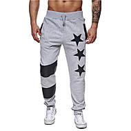 Hombre Básico Algodón Delgado Pantalones de Deporte Pantalones - Geométrico Negro / Deportes / Verano