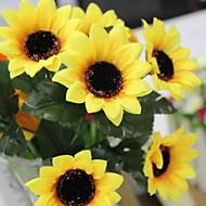 billige Kunstig Blomst-Kunstige blomster 7 Afdeling Stilfuld / Rustikt Solsikke kurv med blomster