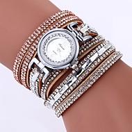 billige Quartz-Dame Armbåndsur Kinesisk Imiteret Diamant / Afslappet Ur PU Bånd Bohemisk / Mode Sort / Hvid / Blåt