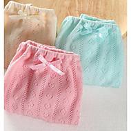 billige Undertøj og sokker til babyer-3stk Baby Pige Ensfarvet Undertøj og strømper