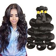 3 Paket Orta Dalgalı Malezya Saçı Düz 8A İşlenmemiş Gerçek Saç İnsan saç örgüleri Doğal Renk İnsan saç örgüleri En iyi kalite Büyük indirim İnsan Saç Uzantıları Kadın's