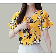 Dame - Blomstret Trykt mønster Bluse