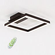 خطي تركيب السقف المدمج ضوء محيط طلاء ملون معدن أكريليك يشمل لمبات 110-120V / 220-240V أبيض دافئ / أبيض / ديمابل مع جهاز التحكم عن بعد وشملت مصدر ضوء LED / LED متكاملة