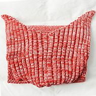 ieftine Pături-Lână Coral, Fir Vopsit Plisat Fibră Acrilică pături