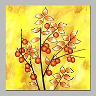 billiga Abstrakta målningar-Hang målad oljemålning HANDMÅLAD - Abstrakt Blommig / Botanisk Moderna Duk