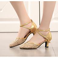 billige Moderne sko-Dame Moderne sko Blonder Høye hæler Tykk hæl Dansesko Gull / Svart / Sølv / Ytelse / Trening