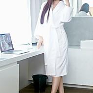 billiga Handdukar och badrockar-Överlägsen kvalitet Badrock, Enfärgad 100% Polyester 1 pcs