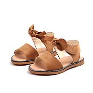 baratos Sapatos de Menina-Para Meninas Sapatos Camurça Verão Conforto Sandálias Caminhada Laço / Velcro para Infantil Preto / Marron / Rosa claro