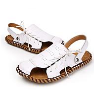 tanie Obuwie męskie-Męskie Komfortowe buty Skóra nappa Lato / Jesień Sandały Sporty wodne Biały / Czarny