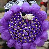Χαμηλού Κόστους Ψεύτικα Λουλούδια-Ψεύτικα λουλούδια 1 Κλαδί Λουλούδια Γάμου Τριαντάφυλλα Λουλούδι για Τραπέζι