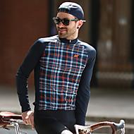 Χαμηλού Κόστους Autum-Winter Collection-Mysenlan Ανδρικά Μακρυμάνικο Φανέλα ποδηλασίας Καρό Ποδήλατο Αθλητική μπλούζα Πολυεστέρας Ταφτάς / Μικροελαστικό / Εμπειρογνώμονας / Αναπνεύσιμες μασχάλες