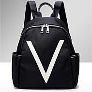 billige Skoletasker-Dame Tasker Oxfordtøj rygsæk Mønster / tryk for Sport / udendørs Sort