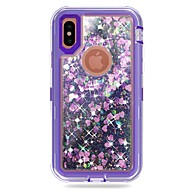 cheap -Case For Apple iPhone X / iPhone 8 Plus Shockproof / Flowing Liquid / Glitter Shine Full Body Cases Armor / Glitter Shine Hard PC for