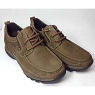 baratos Sapatos Masculinos-Homens Pele Inverno Conforto Oxfords Khaki