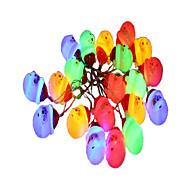 billiga Belysning-3M Ljusslingor 20 lysdioder Multi-färger Dekorativ AA Batterier Drivs 1st