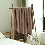 cheap Blankets & Throws-Flannel, Reactive Print Simple Cotton / Polyester Blankets