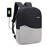 Unisex Bags Cotton / Polyester / Polyester Backpack Zipper Blushing Pink / Dark Gray / Light Gray