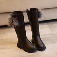 tanie Obuwie dziewczęce-Dla dziewczynek Obuwie Guma / Derma Jesień & zima Comfort / Modne obuwie Buciki na Black / Czerwony / Wine