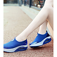 cheap Women's Athletic Shoes-Women's Shoes Tulle Spring & Summer Comfort Athletic Shoes Tennis Shoes / Walking Shoes Wedge Heel Gray / Pink / Royal Blue
