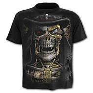 Χαμηλού Κόστους -Ανδρικά Μεγάλα Μεγέθη T-shirt Κρανίο / Εξωγκωμένος - Βαμβάκι Γραφική Στάμπα / Κοντομάνικο