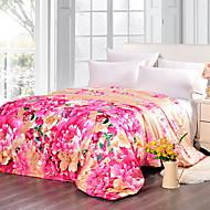 billiga Täcken och överkast-Bekväm - 1 st. Sängöverkast Sommar Polyester Blommig