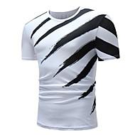 Herre - Farveblok Basale T-shirt Sort og hvid